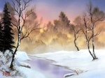 Bob Ross Winter scene