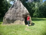 Natchez Indian hut